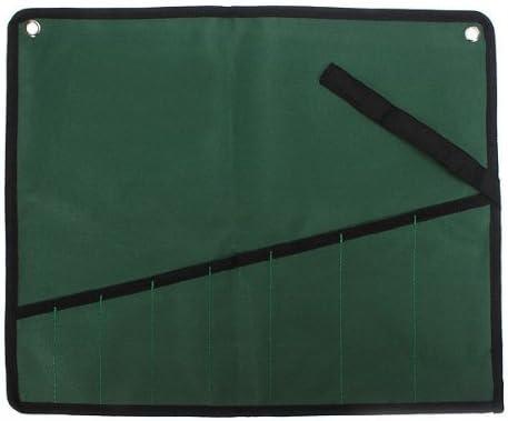 8Pcs Pocket Canvas Tool Roll Pocket Spanner Wrench Storage Bag