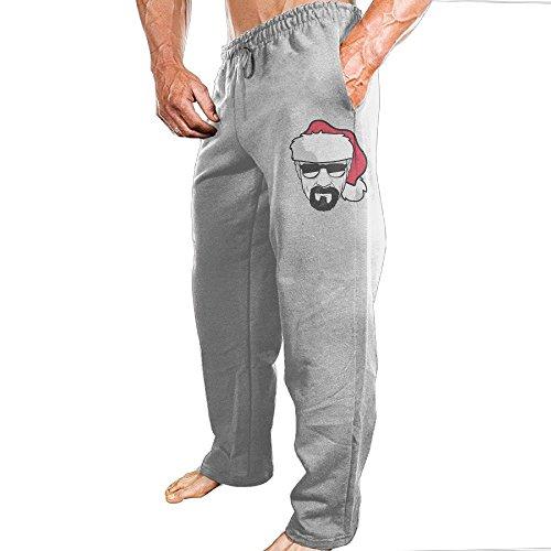 Christmas Abbott Husband - White Christmas Athletic Men's Open Bottom Light Weight Active Basic Urban Jersey Pants Jogger Pants