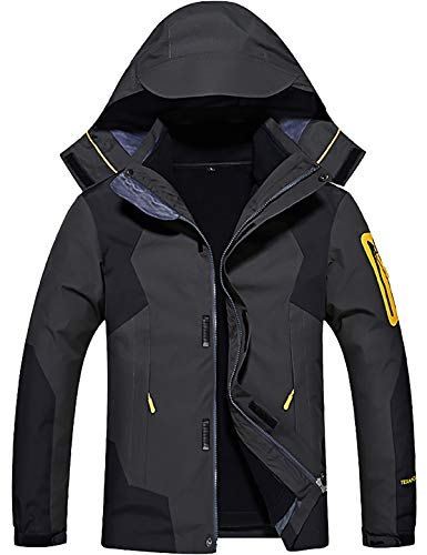 GEMYSE Men's 3 in 1 Waterproof Ski Snow Jacket Fleece Liner Warm Winter Jacket Coat