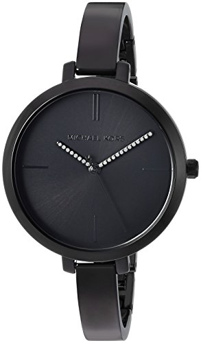 Michael Kors Women's 'Jaryn' Quartz Stainless Steel Casual Watch, Color:Black (Model: MK3786)