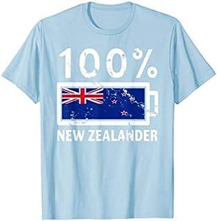 Birthday Gift New Zealand Flag  | 100% New Zealander Battery Power Long Sleeve Funny Shirt / Navy / S - 5XL