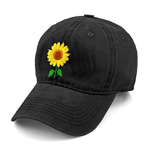 Sghyygcjs Fashion Casual Unisex Sunflower Clipart Adjustable Baseball Cap Adult Denim Hat