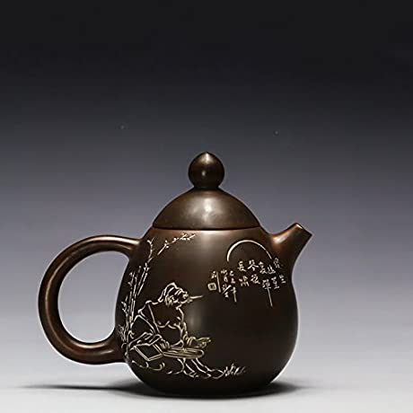 Dragon Egg Pot Qinzhou Nixing Pottery Teapot Pure Hand Carving Craft Master Make Purple Clay Pot