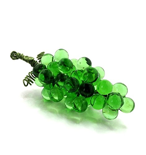 Grape Cluster in Translucent Green Glass, Medium
