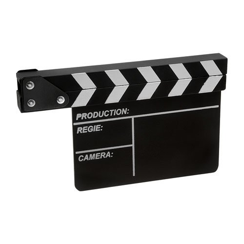 Fotodiox Movie chalk Clapboard, Film Production Director's Slateboard Clapper, 8'x10.5' Wood w/Metal Fittings Film Production Director' s Slateboard Clapper 8x10.5 Wood w/Metal Fittings 847372018857