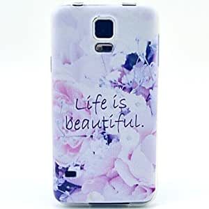 qyf A Beautiful Life Pattern TPU Soft Case for Galaxy S5 Mini