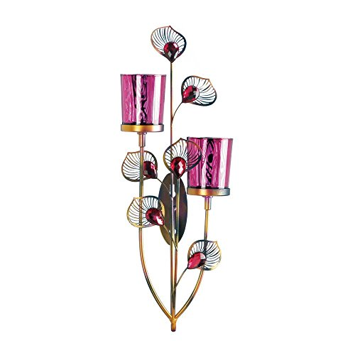 Zings & Thingz 57073993 Pink Plumes Wall Sconce,