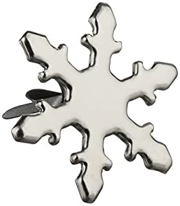 Creative Impressions Metal Paper Fasteners 50/Package, Silver Snowflakes
