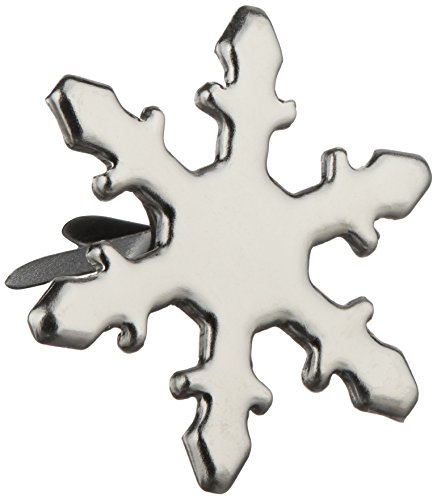 - Creative Impressions Metal Paper Fasteners 50/Package, Silver Snowflakes