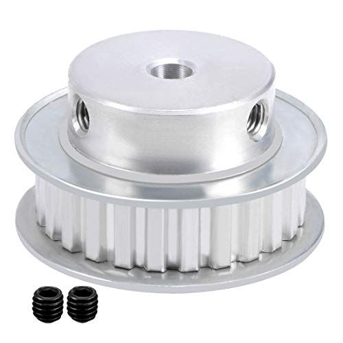 uxcell 2pcs Aluminum XL 25 Teeth 6mm Bore Timing Belt Pulley Flange Synchronous Wheel for 10mm Belt 3D Printer CNC