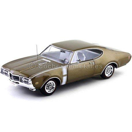 1:18 1968 Oldsmobile Cutlass 442 Hardtop Cinnamon Bronze Poly Autoworld AMM1084 ()