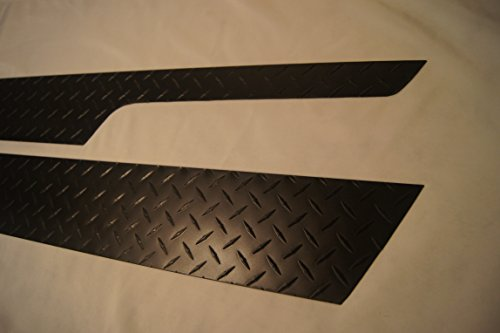 Jeep Diamond Plate 1997-2006 TJ Wrangler Matte Black Off-Road 5 3/4 Rocker Panel Covers with Cut Outs