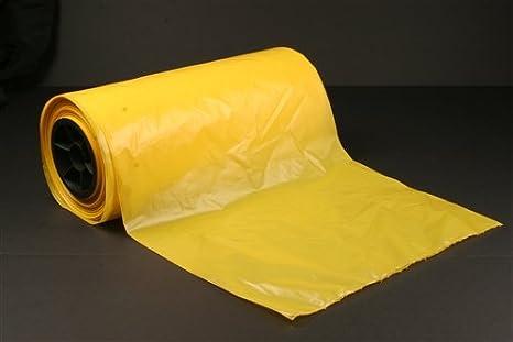 Plástico Amarillo equipo para bolsas (50 bolsas/rollo) - Mes ...