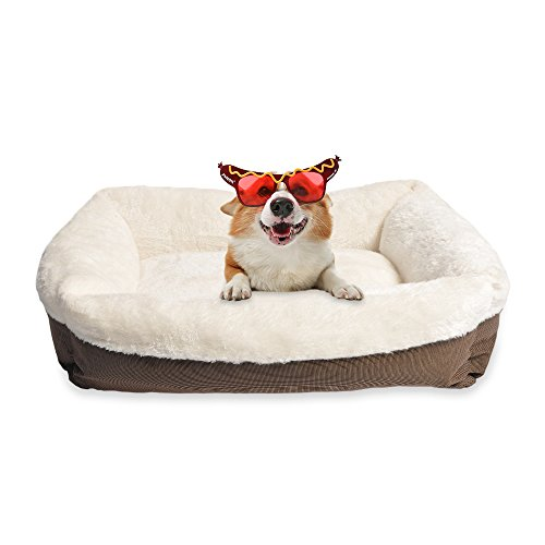 long rich Durable Two Tone Color Oxford pet Bed, Large, by Happycare Textiles