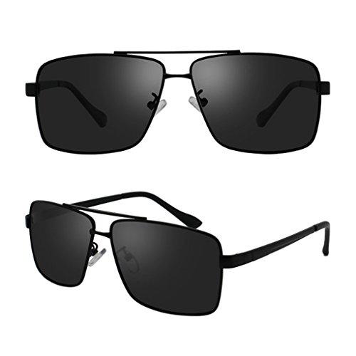 Frame Black de Driver Polarized Soleil Eye Lunettes Fashion Hommes Soleil Lunettes Black de Frame Couleur Lunettes Opd74Sqw