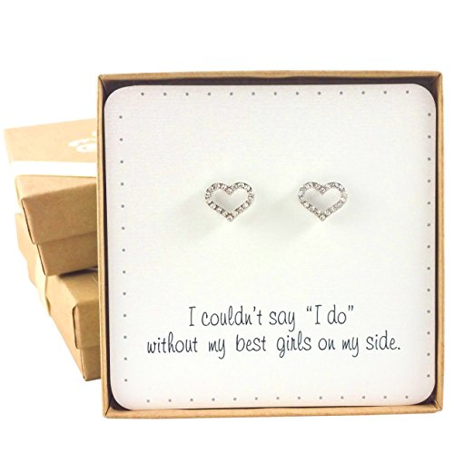 Bridesmaid Gifts - Love Heart Earrings (0.5