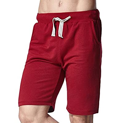 Cheap Pandapang Mens Loose Summer Solid Holiday Drawstring Straight Shorts free shipping
