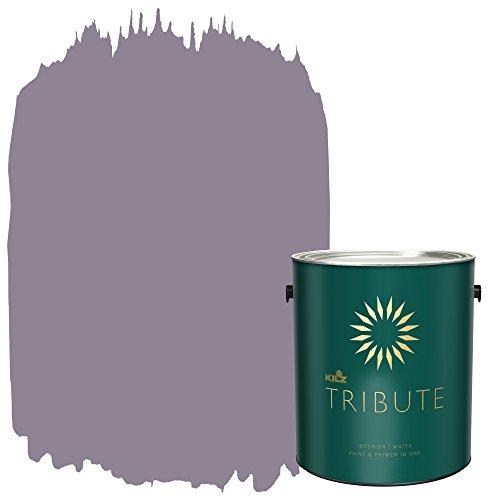 Orchid Tri (KILZ TRIBUTE Interior Matte Paint and Primer in One, 1 Gallon, Orchid Smoke (TB-27))
