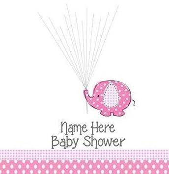 A4 A3 Baby Dusche Taufe Tag Elefant Fingerabdruck Andenken Rosa