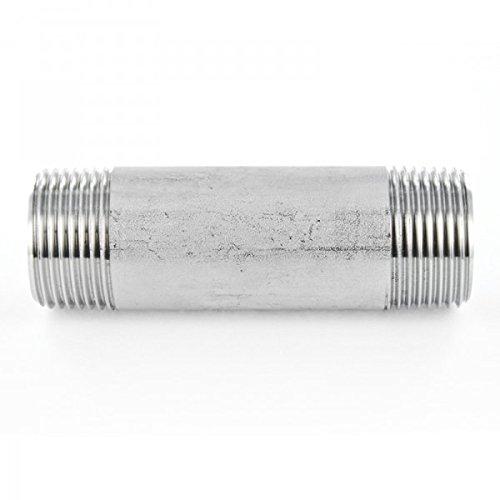 Tubo de acero inoxidable boquilla V4A rosca de montaje