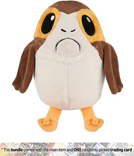 Funko PORG [Male] Galactic Plushies x Star Wars - The Last Jedi Plush + 1 Official Star Wars Trading Card Bundle (14796)