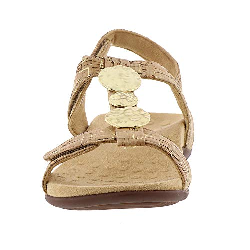 Farra Womens Gold Vionic Patent Leather Sandals cork fw6q5