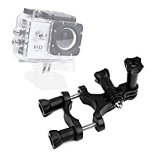 DURAGADGET High Quality Bike Handlebar Action Camera Mount with GoPro Style Connector - Compatible with the Eken H9 | H8 | H3 Action Cameras
