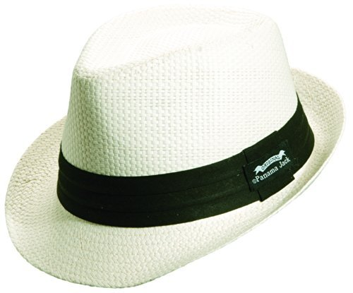 Panama Jack Men's Matte Toyo Fedora L Ivory (Panama Jack Apparel)