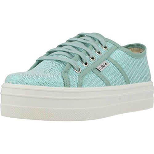 Victoria Tejido Verde Sneakers Lurex da Donna Basket CqSCHnxwp