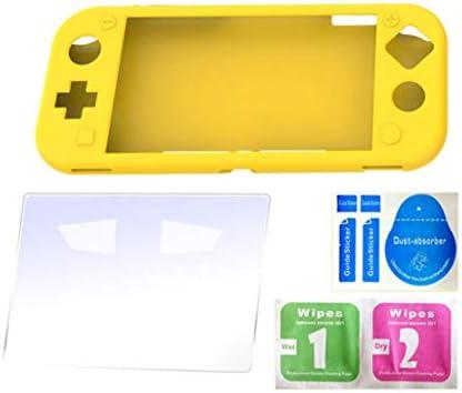 Nichseng - Carcasa de Silicona para Nintendo Switch Lite, Protector de Pantalla para Nintendo Switch Lite (dureza 9H, Cristal Templado): Amazon.es: Hogar