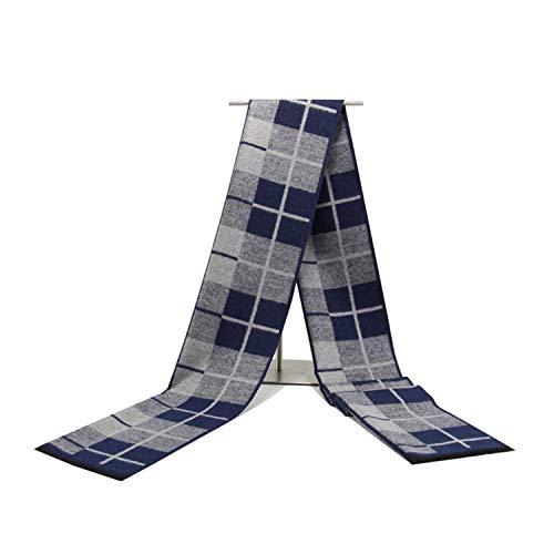 Scozia 180cm Sciarpa scuro modello Cotton l'autunno per Sciarpe inverno Amdxd blu q1OxI