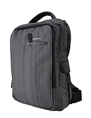 Laptop Backpack, Entour Guildford Large Capacity Water-resistant School, Business, Work, Traveling Fits Up to 15.6 inch Laptop Dark Blue/Dark Grey/Light Grey/Light Grey1