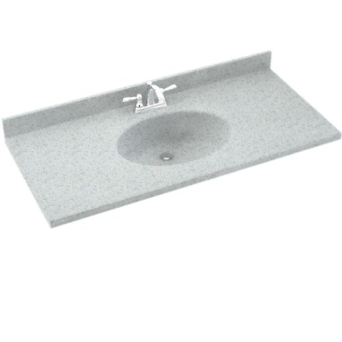Swanstone CH02237.053 Chesapeake Solid Surface Single-Bowl Vanity Top 37-in L X 22-in H X 6.125-in H Tahiti Gray ()