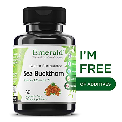 Sea Buckthorn - Promotes Skin Nourishment, Natural Source of Vitamin C and Vitamin E, Source of Omega 7's (Palmitoleic Acid) - Emerald Laboratories (Fruitrients) - 60 Vegetable Capsules