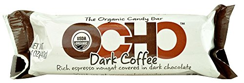 OCHO Candy Organic Candy Bar, Dark Coffee, 1.4 oz (Ocho Chocolate)
