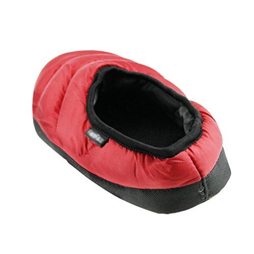 Mwfus Heren & Dames Premium Indoor Huis Winter Katoenen Slipper Rood