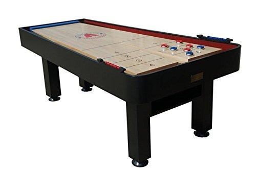 Snap-Back Shuffleboard Metro Model Shuffleboard with Abacus Scoring, 7-Feet/45-Inch, Black by Snap-Back Shuffleboard