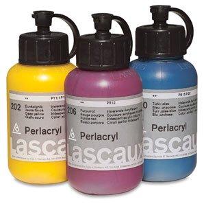 (Lascaux Perlacryl Iridescent Acrylics - Pearl White, 85 ml Bottle)