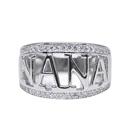 Women Ring Square Cubic Zirconia Bridal Infinity Wedding Ring Set Round Cut Wedding Band Anniversary Promise Ring for Women (Silver 8)