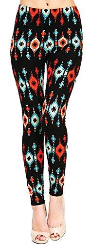 Printed Brushed Leggings (Piercing Arrows)