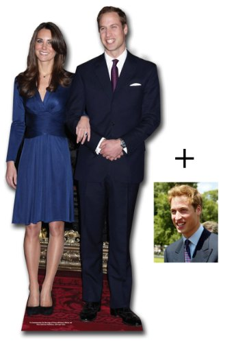 Commemorative Pack Prince William and Kate Middleton - British Royal Wedding 2011 - Lifesize Cardboard Cutout / Standee / Standup - Includes 8x10'' Prince William Photo by Starstills UK - Party Cardboard Cutouts