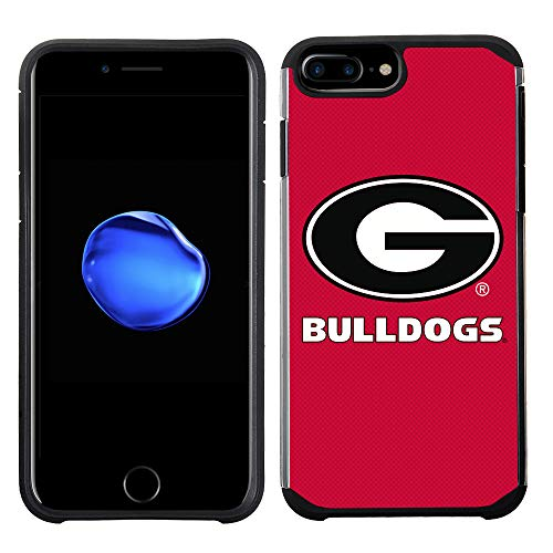 Georgia Bulldogs Cell Phone Cover - Prime Brands Group Textured Team Color Cell Phone Case for Apple iPhone 8 Plus/7 Plus/6S Plus/6 Plus - NCAA Licensed University of Georgia Bulldogs