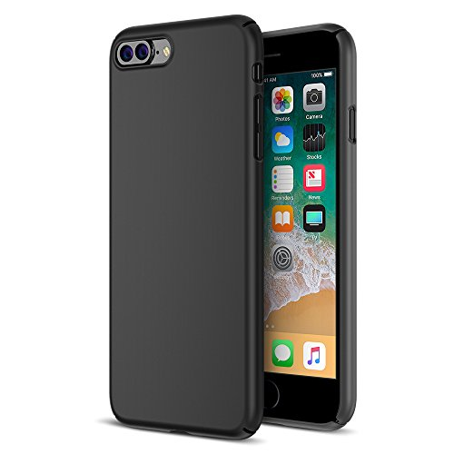 Maxboost iPhone 8 Plus Case, mSnap Apple iPhone 8 Plus/iPhone 7 Plus [Perfect Fit] [Black] EXTREME Smooth Surface [Scratch Resistant] Matte Coating for Excellent Grip Thin Hard Protective PC Cover