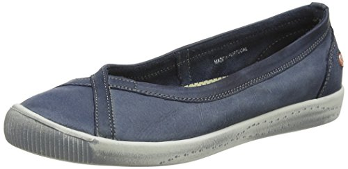 Navy Ballet Women's Blue Softinos Ilma Flats qEwSpAOX