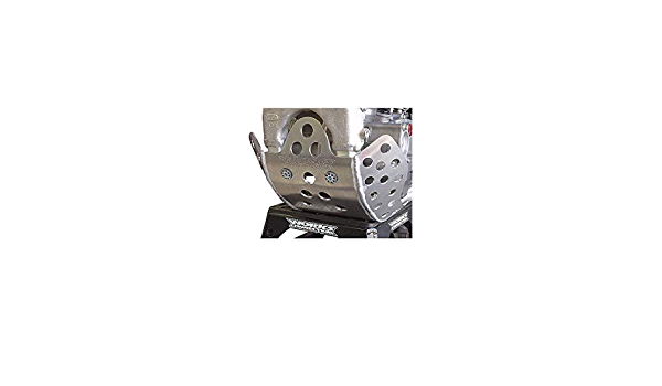 Works Connection 10-090 Silver Motocross MX Dirt Bike Skid Plate