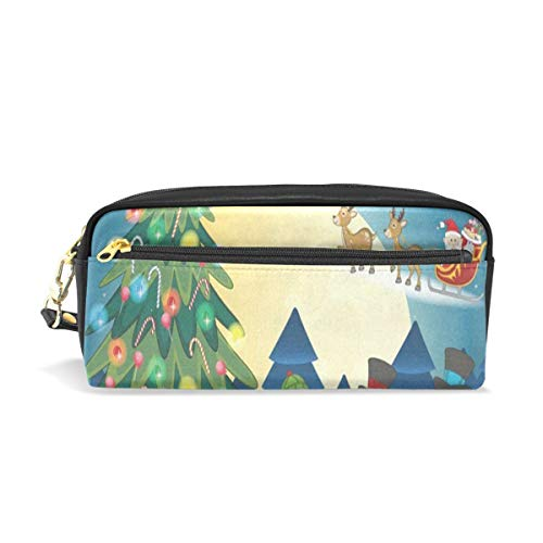 Pencil Case/Makeup Bags Christmas Tree Santa Claus Big Capacity Portable Pencil Bag for College Students/Women/Adults ()