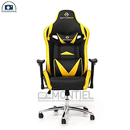 Silla Gamer Eclipse (Amarilla) Silla Gamer para jugar a Videojuegos Esports como Fifa, Counter Strike GO, League of legends, lol, estudiar, niño, ...
