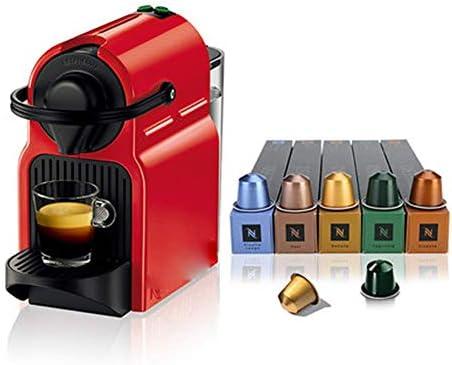 Qinmo Iced Macchina for Il caffè, Mini Automatic Macchina da caffè Set con 50 Capsule Filtro Macchina da caffè Drip Coffee Machine Funzione Timer, Protezione Secco