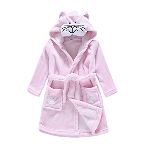 Amazon.com  CuteOn Kids Boys Girls Flannel Bathrobe Children s Pajamas Dressing  Gown  Clothing 9c6b756a5