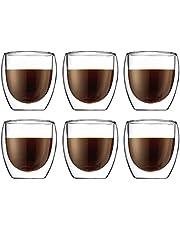 Bodum Pavina Espresso Glazenset, dubbelwandig, geïsoleerd en transparant